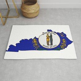 Kentucky Map with Kentucky Flag Rug