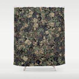 Ahegao camouflage Shower Curtain