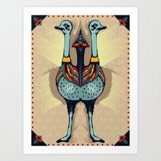 Ostrich DNA Art Print