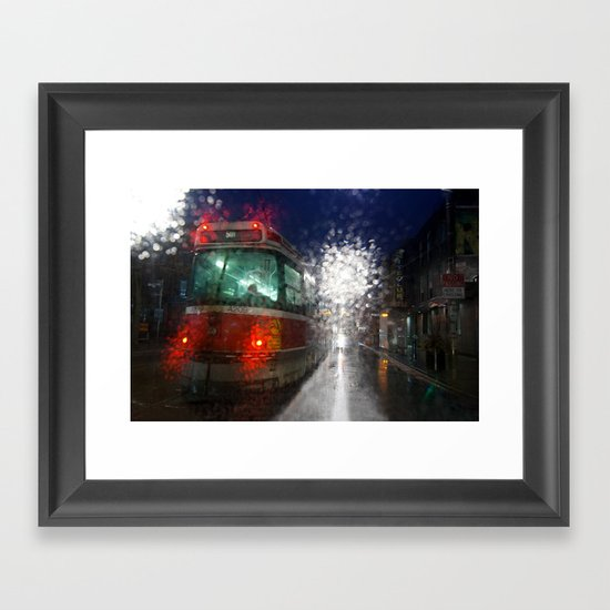 Rain Rider Framed Art Print