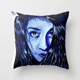 ride or dye Throw Pillow