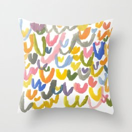 Abstract Letterforms 1 Throw Pillow