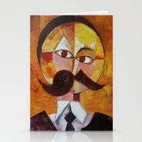 nietzsche Stationery Cards featuring Friedrich Nietzsche by Renee Bolinger