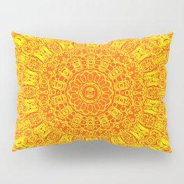 Yellow Earth Mandala Pillow Sham