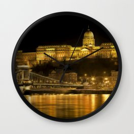 Budapest Golden Night Wall Clock