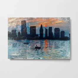 Miami Skyline 7 Metal Print