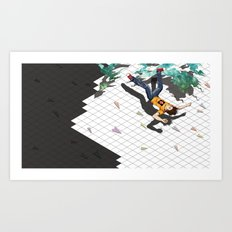 Fall Crash Infect Art Print