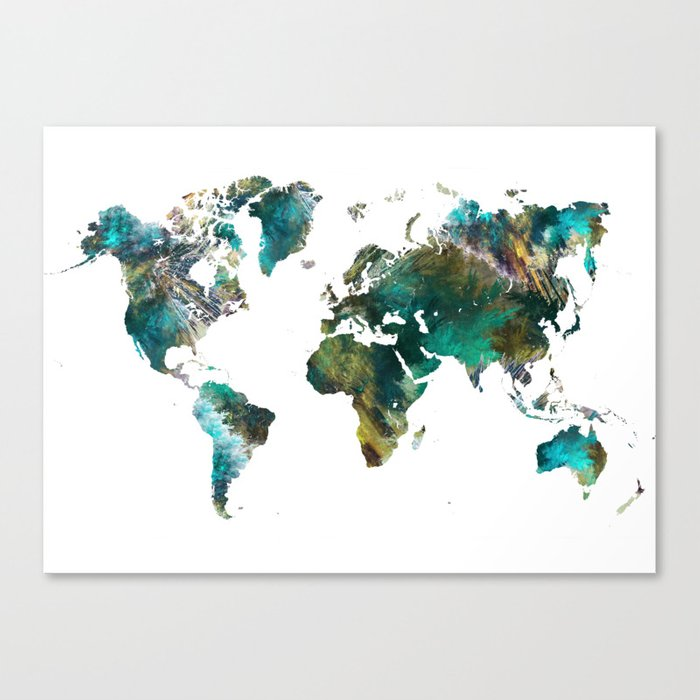 Map of the World tree #map #world Canvas Print by jbjart | Society6