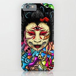 Gueisha Doodle iPhone Case
