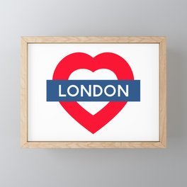 London Underground - Heart Framed Mini Art Print