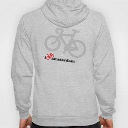I Love Amsterdam - Red Bike Hoody