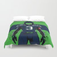 seahawks Duvet Covers featuring SB L Seattle  by Akyanyme