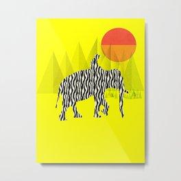 Zelephant - Mahout & Elephant Metal Print