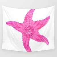 hawaiian Wall Tapestries featuring Hawaiian Starfish by Teresa Chipperfield Studios