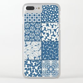 Tile Patchwork Clear iPhone Case