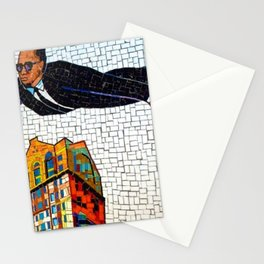 NYC Subway 125th Street Public Mural Black Heroes - Malcom X Photograph Stationery Cards