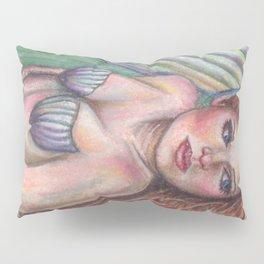 Mermaid Art Pastel ORIGINAL Resting Spot by Laurie Leigh Fantasy Pillow Sham
