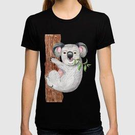 Cute koala bear Art Print Watercolor Painting Illustration Australia Wild Animal Tropical T-shirt