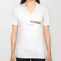 dark side of the moon V-neck T-shirts featuring The Dark Side of the Moon by Alisa Galitsyna