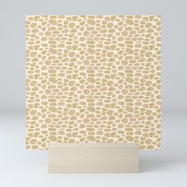 Giraffe Hide Pattern Mini Art Print