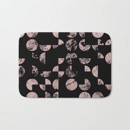 Dusty Pink Geometry Bath Mat