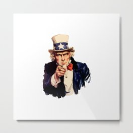 Uncle Sam Wants You! Metal Print