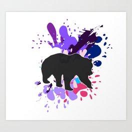 Splattered Paint Bear Art Print