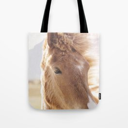 Golden Horse Photograph Tote Bag