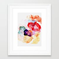 watercolour Framed Art Prints featuring Watercolour  by ABE KAWAII
