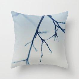 bare blue Throw Pillow