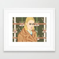 tenenbaum Framed Art Prints featuring Margot Tenenbaum  by Maritza Lugo