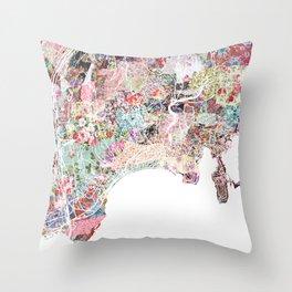 Nice map Throw Pillow