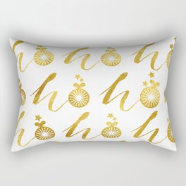 Gold Christmas 07 Rectangular Pillow