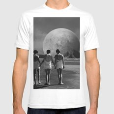 First Steps Mens Fitted Tee White MEDIUM