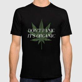 Don't Panic it's Organic Vintage Potleaf Print T-shirt