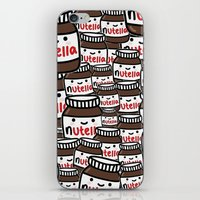 nutella iPhone & iPod Skins featuring Nutella Love by Pink Berry Patterns