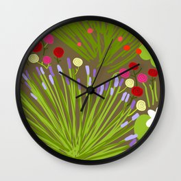 Floral island Wall Clock