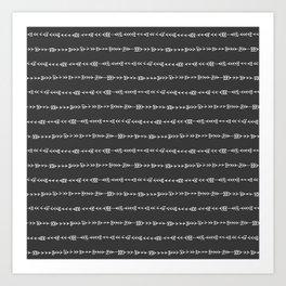 Tribal Arrows - Hand Drawn Illustration, Abstract Pattern Art Print