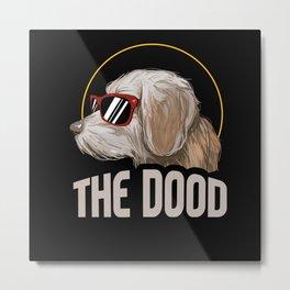 Funny Goldendoodle The Dood Vintage Dog Lover Metal Print