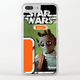 Greedo Vintage Action Figure Card Clear iPhone Case