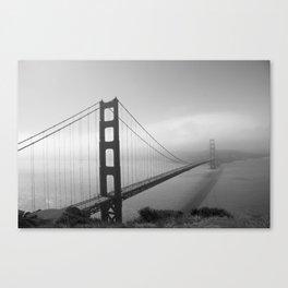The Golden Gate Bridge In A Mist Canvas Print