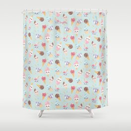 Cute Gelato Shower Curtain