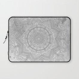 gray splash mandala swirl boho Laptop Sleeve