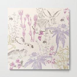Wildflowers of the Tallgrass Prairie Metal Print