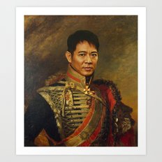 Jet Li - replaceface Art Print