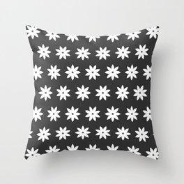Minimalist Flowers Black & White Throw Pillow