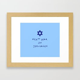 Next year in Jerusalem 8 Framed Art Print