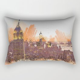 New York Panorama Rectangular Pillow