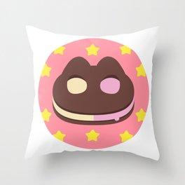 Cookie Cat! [textless] Throw Pillow