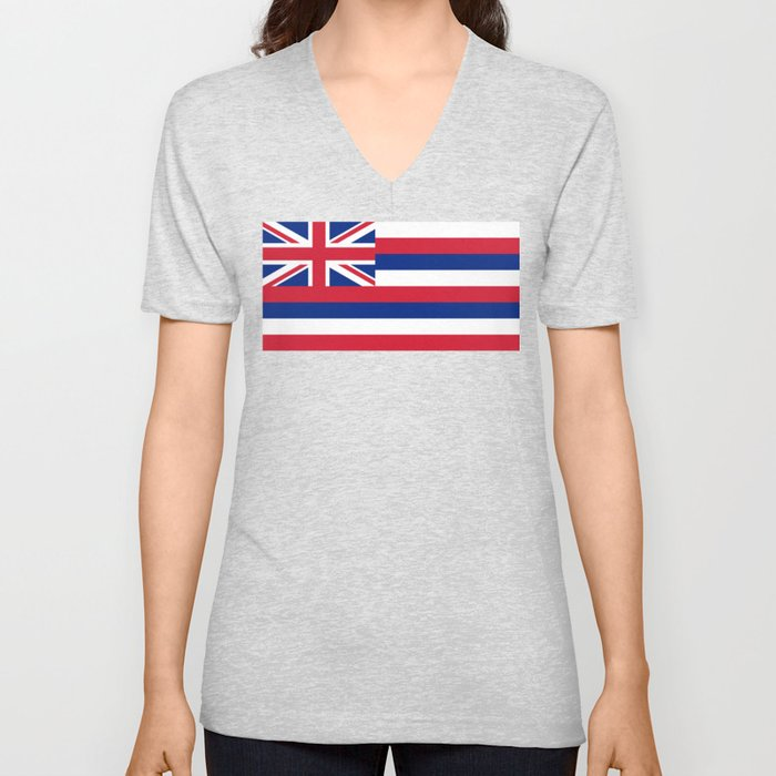 Hawaiian Flag, Official color & scale Unisex V-Neck